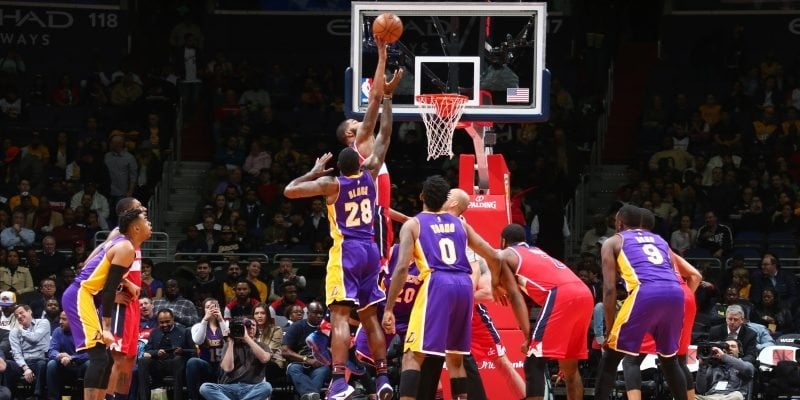Marcin Gortat Wizards Lakers