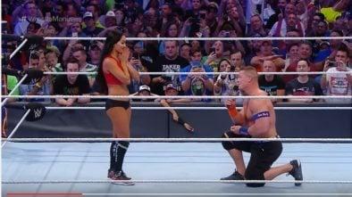 John Cena podczas gali Wrestlemania 33 oświadczył się