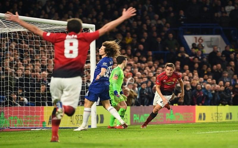4139aad64 Puchar Anglii: Manchester United wygrał hit z Chelsea + pary ćwierćfinałowe